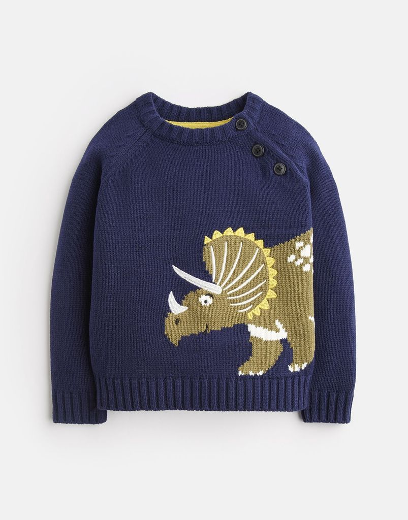 Joules Joules Dino Intarsia Sweater