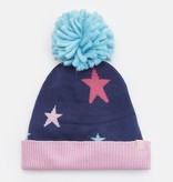 Joules Joules Halley Intarsia Hat with Oversided Pom