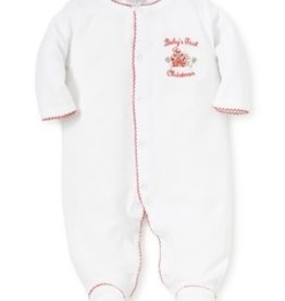 kissy kissy Kissy Kissy First Christmas Velour Footie