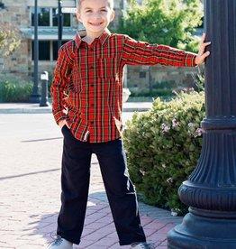 RuffleButts Tristan Plaid Button Down Shirt