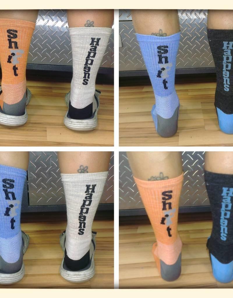 Sock Guy SHBR Socks - blue/grey wool L/XL