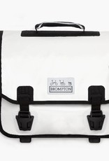 Ortlieb O Bag, White/Black with frame and strap