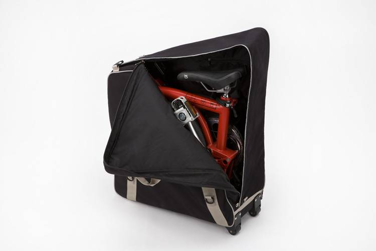 Radical Designs Brompton B Bag, with castors and strap