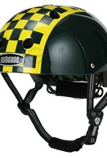Nutcase Green Checkerboard Helmet S-M