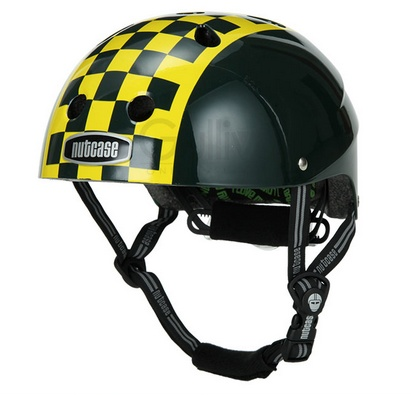 Nutcase Green Checkerboard Helmet S-M