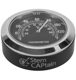 Stem Captain Headset Cap Thermometer, Black Dial/Black Case