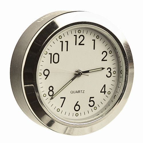 StemCaptain Stem Captain Headset Cap Clock, White Dial/Black Case