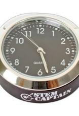 StemCaptain Stem Captain Headset Cap Clock, Black Dial/Black Case