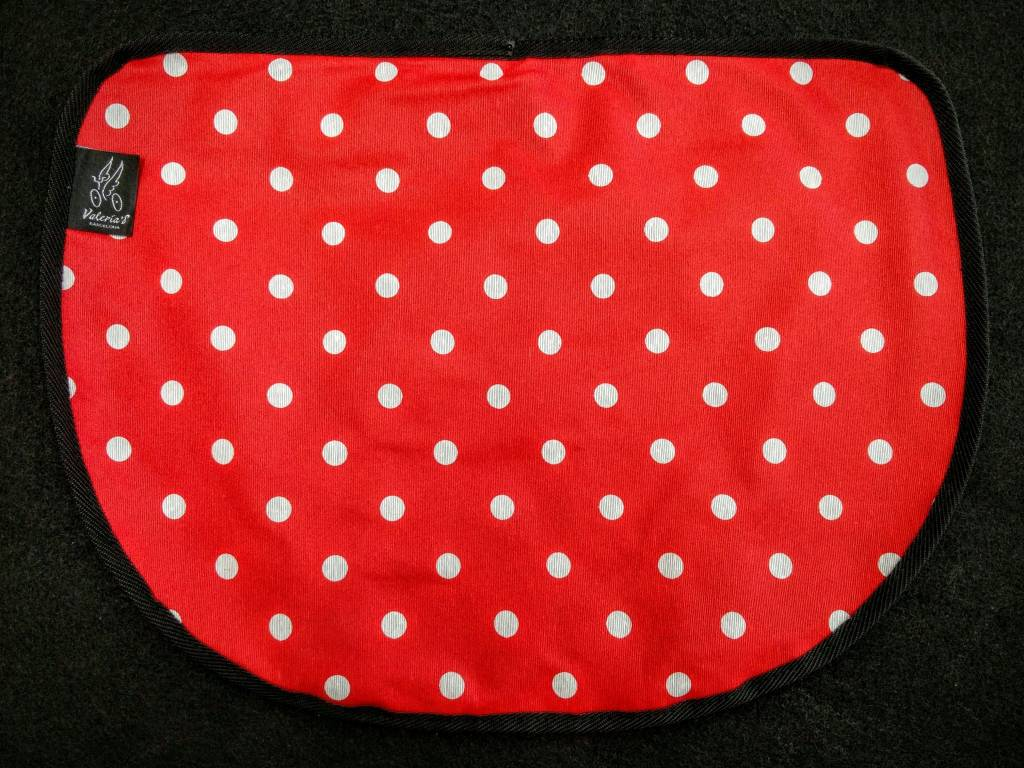 Valeria's Bike Accessories Valeria's S-Bag Flap - Red Polka Dot