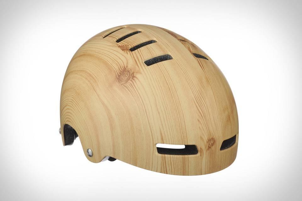Lazer Street Deluxe Helmet: Light Wood Grain LG