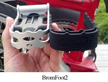BromFoot BromFoot2, Folding Pedal Extension for Brompton