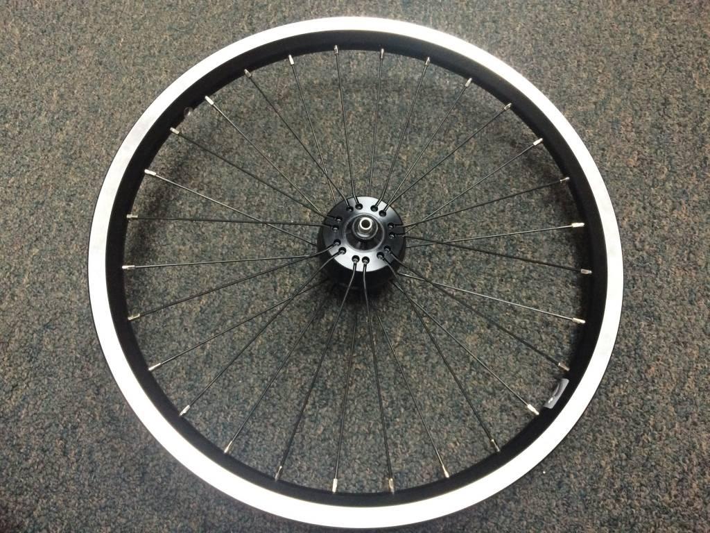 Brompton Schmidt SON XS Semi-Radial Dynamo Front Wheel, Brompton Rim, Black