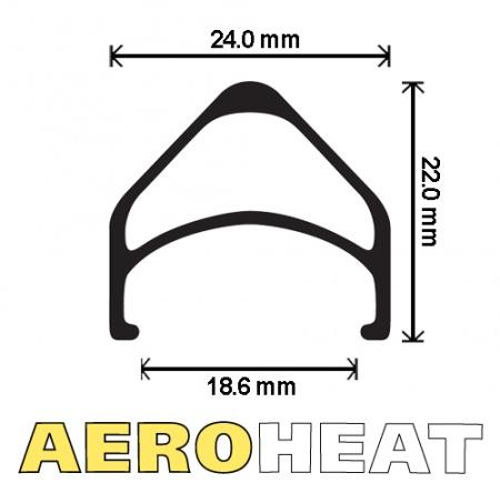 """Velocity Velocity Aeroheat 20"""" Rim (406), 28h"""