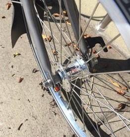 Brompton Front Wheel, Phil Wood Silver Hub, Sun Ringle PolishedRim