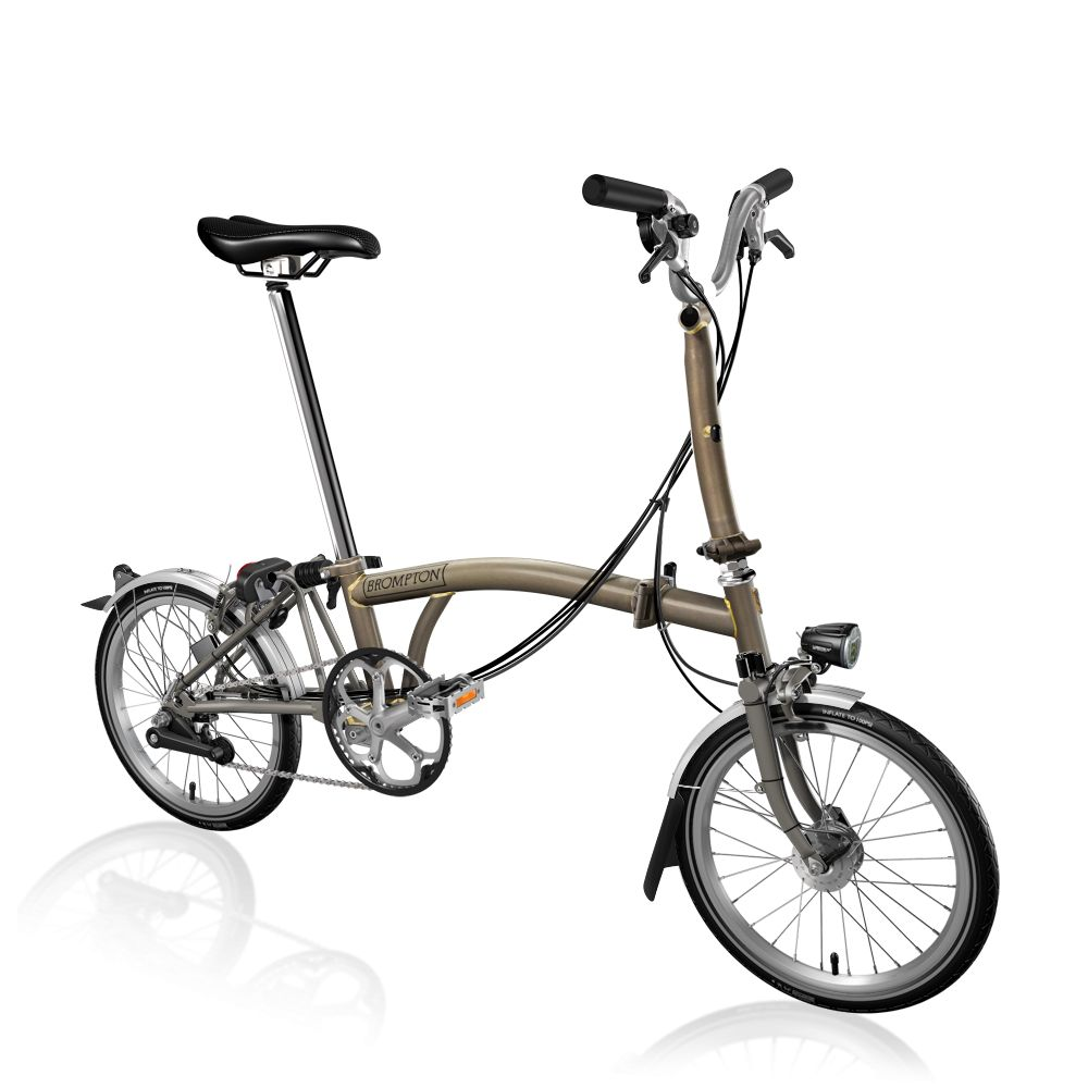 Brompton Brompton M6L-X Raw Lacquer, SON Dynamo Lighting