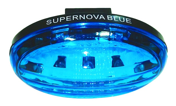 Midnight Sun Bike Blue Supernova:Blue Tail Light