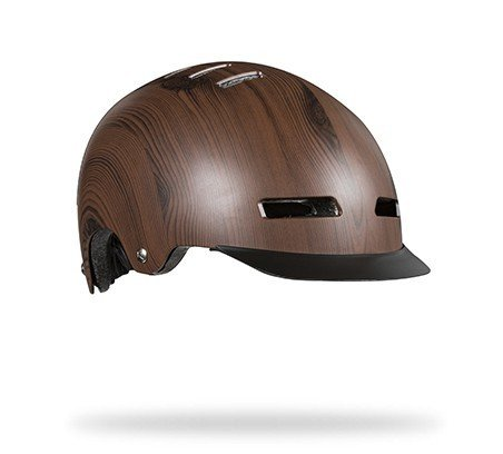 Lazer Street Plus DLX Helmet: Dark Brown Wood MD
