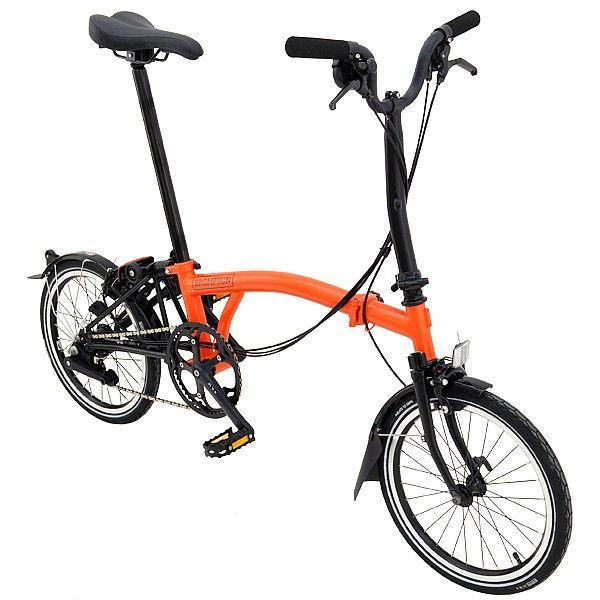 Brompton Brompton M6L Black Edition - Orange/Black with Battery Lighting