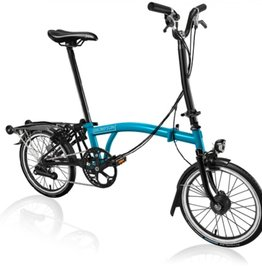 Brompton Brompton H6R Black Edition, Lagoon Blue/Black with Shimano Dynamo