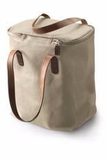 Brooks Camden Tote Bag - Canvas with Leather Handles Sand/Chocolate