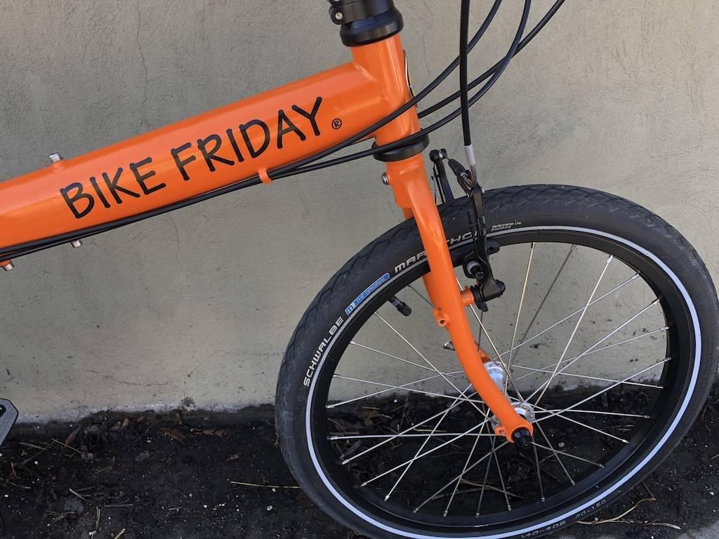 Bike Friday Bike Friday New World Tourist, 56, Enno Orange