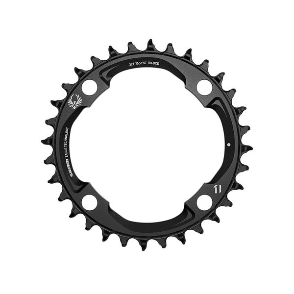 SRAM SRAM X-Sync 2 Chainring, 11 or 12 Speed, 32T-104mm BCD, Black