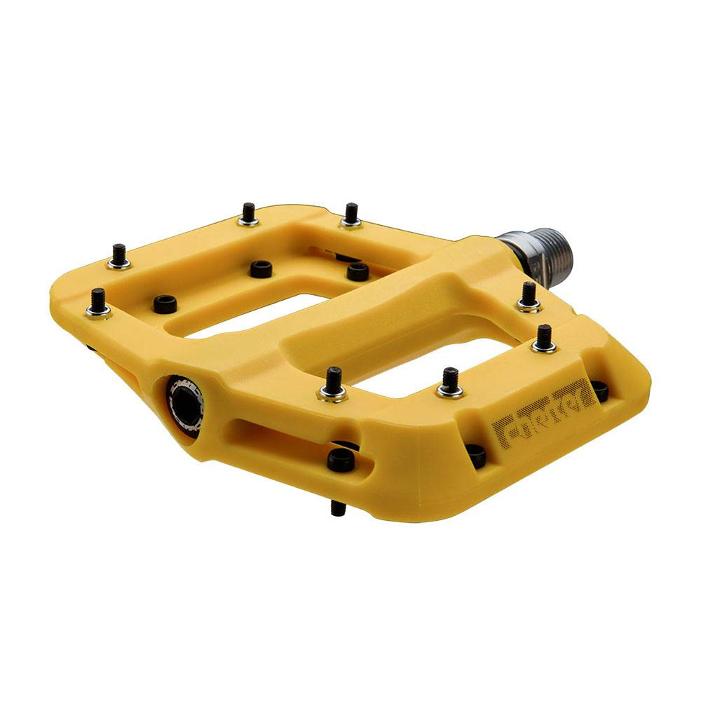 "RaceFace RaceFace Chester Composite Platform Pedal: 9/16"" Yellow"