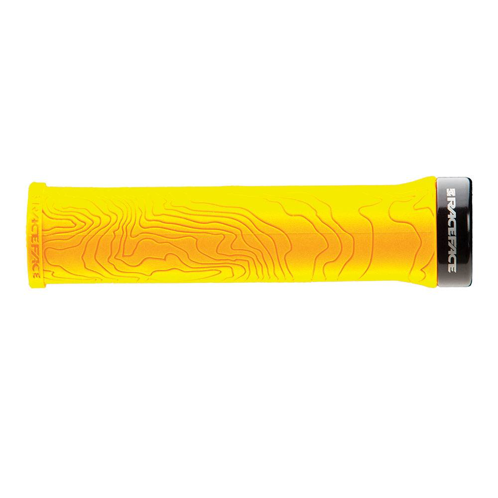 RaceFace RaceFace HALF NELSON Grips Single Lock,YELLOW