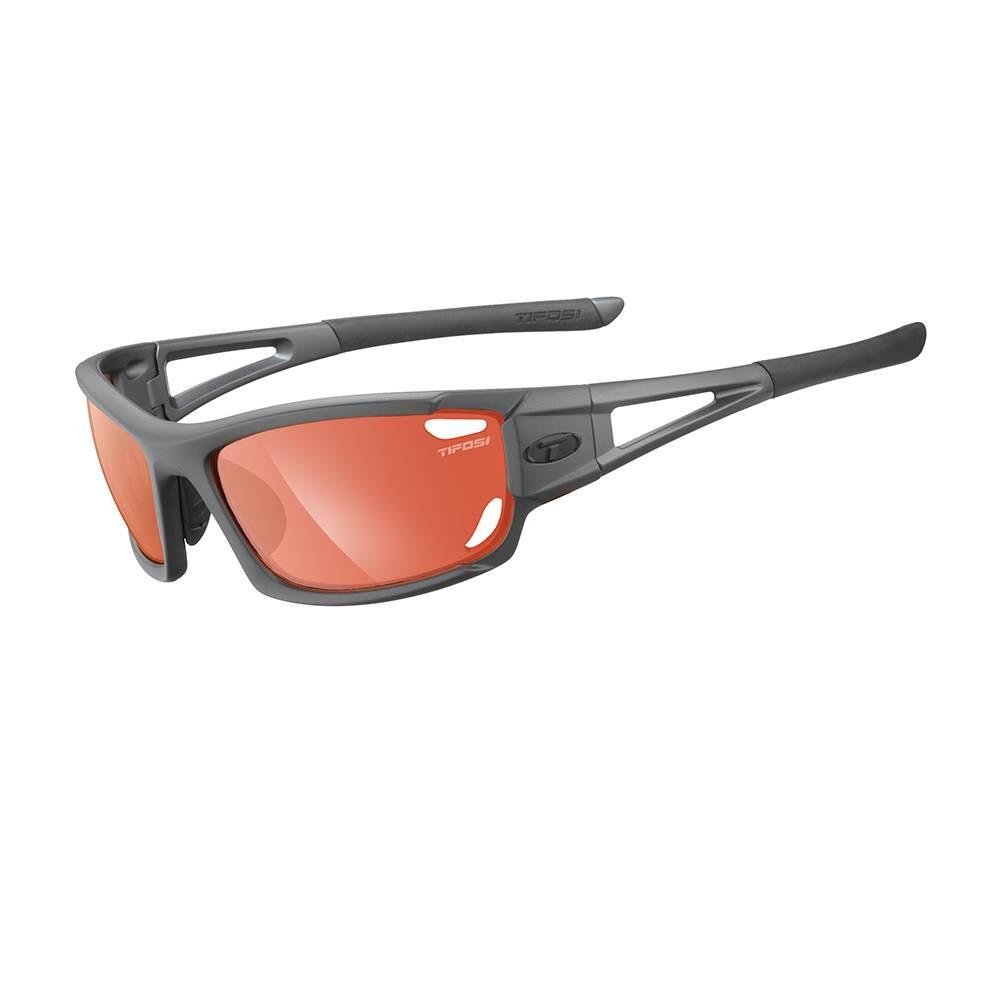 TIFOSI OPTICS Dolomite 2.0, Matte Gunmetal Fototec Sunglasses High Speed Red Fototec Lens
