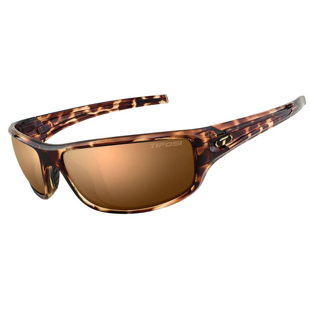 TIFOSI OPTICS Bronx, Tortoise Polarized Sunglasses Brown Polarized Lens
