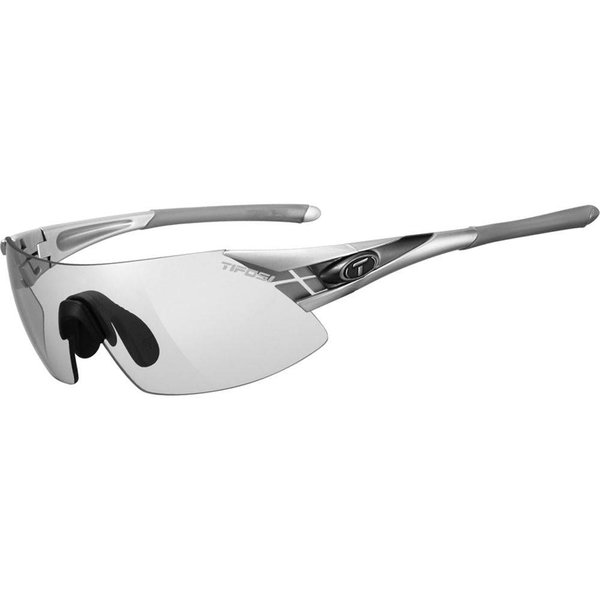 TIFOSI OPTICS Podium XC, Silver/Gunmetal Fototec Sunglasses Light Night Fototec Lens