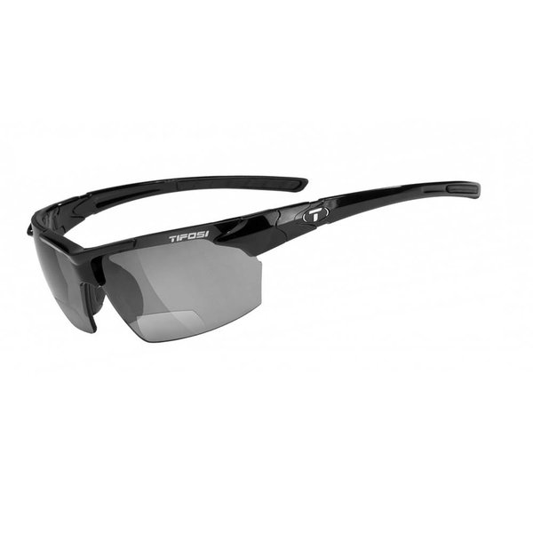 TIFOSI OPTICS Jet, Gloss Black +2.0 Reader Lens Sunglasses Smoke Reader +2.0 Lenses