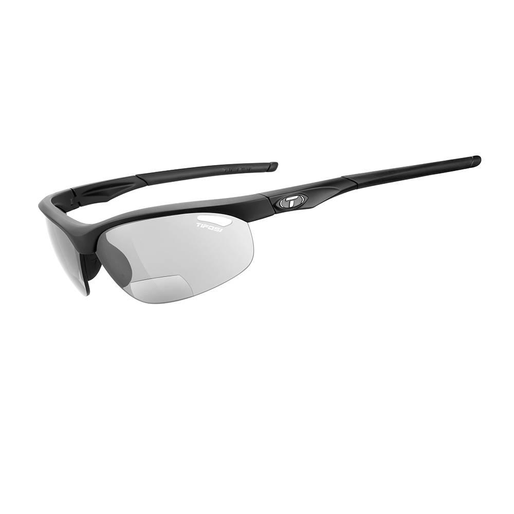 TIFOSI OPTICS Veloce, Matte Black +2.0 Reader Lens Sunglasses Smoke Reader +2.0 Lenses