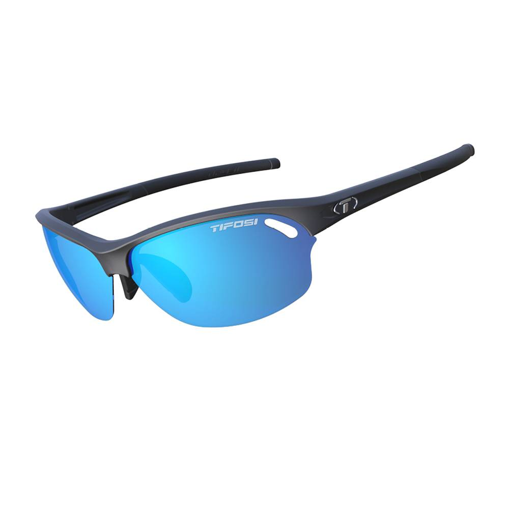 TIFOSI OPTICS Wasp, Matte Black Interchangeable Sunglasses Blue Clarion, AC Red, Clear