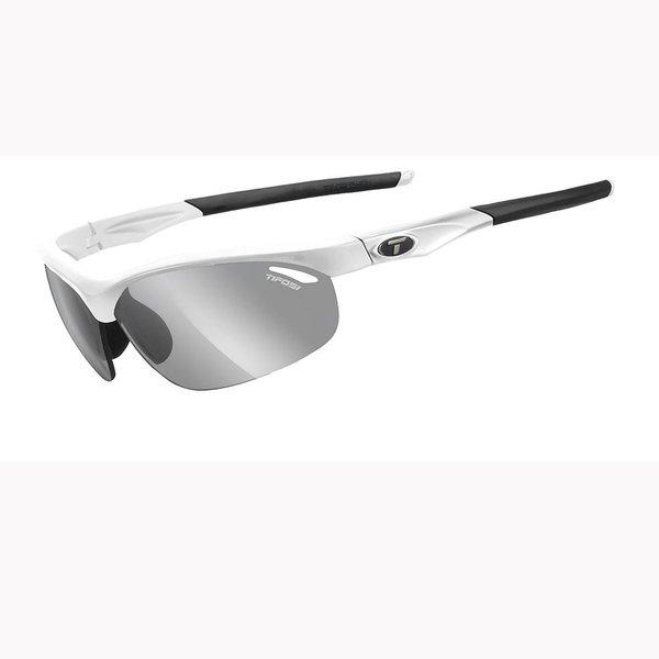 TIFOSI OPTICS Veloce, Matte White Fototec Sunglasses Smoke Fototec Lenses