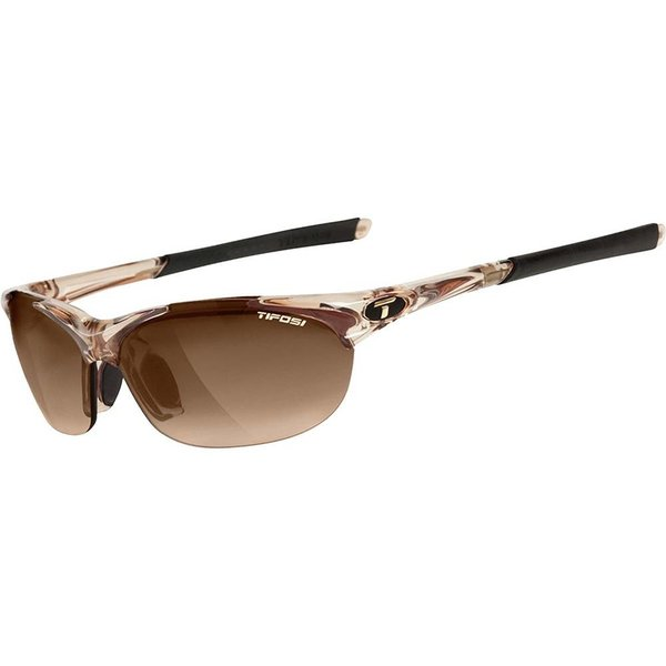 TIFOSI OPTICS Wisp, Crystal Brown Interchangeable Sunglasses Brown Gradient/AC Red/Clear