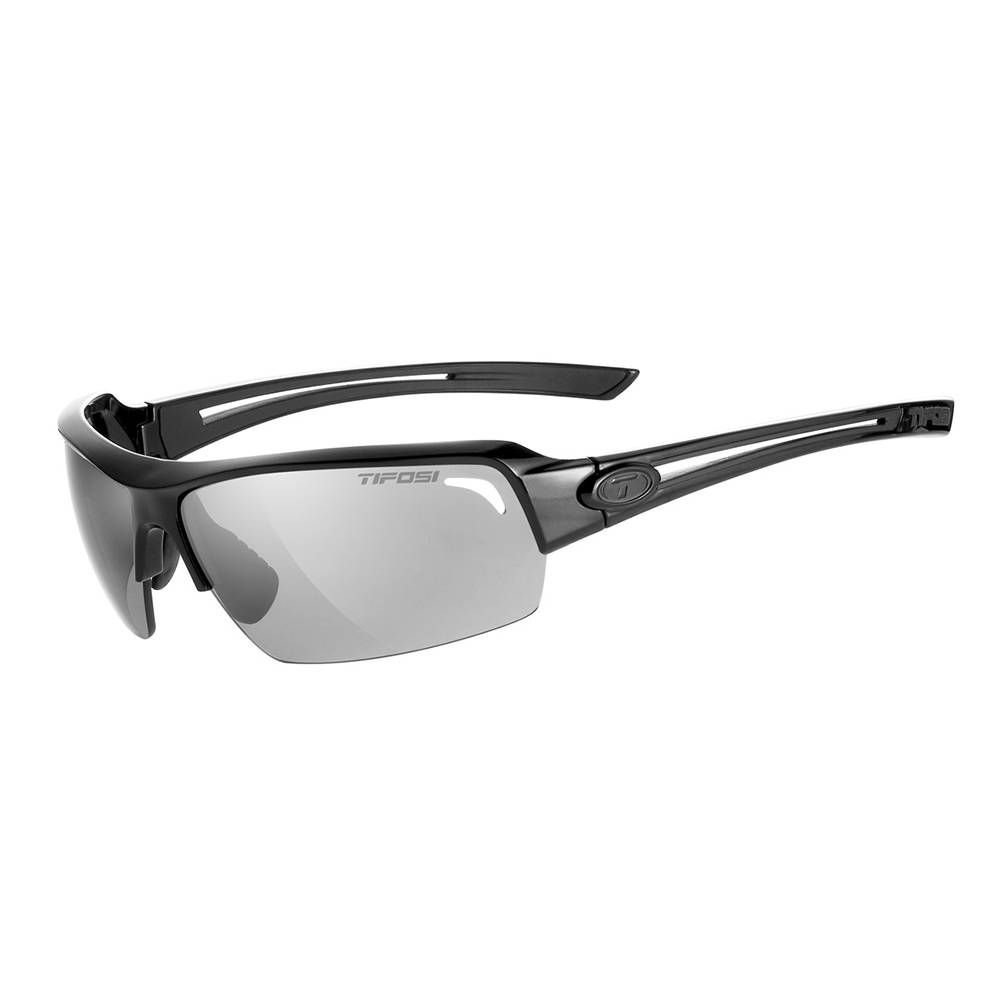TIFOSI OPTICS Just, Matte Black Single Lens Sunglasses Smoke Lens