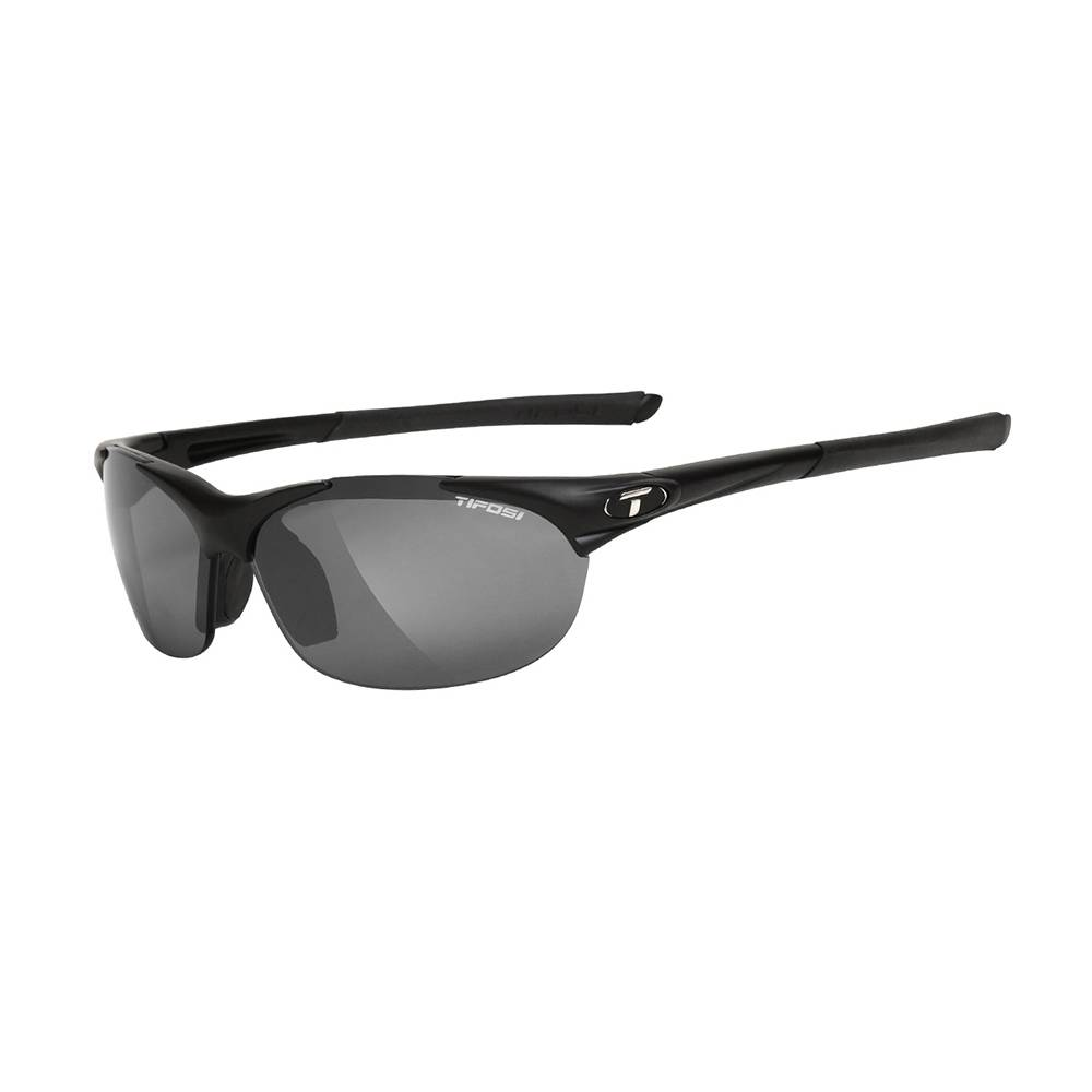 TIFOSI OPTICS Wisp, Matte Black Interchangeable Sunglasses Smoke/AC Red/Clear Lenses
