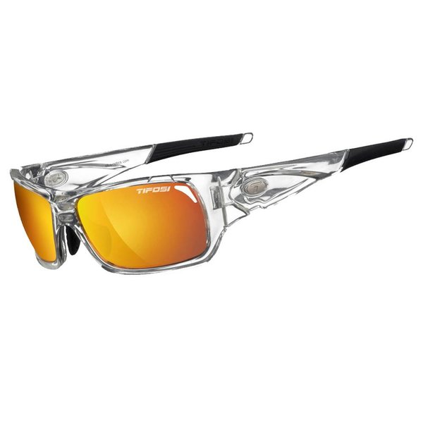 TIFOSI OPTICS Duro, Crystal Clear Interchangeable Sunglasses Smoke Red/Smk Brt Blue/Clear