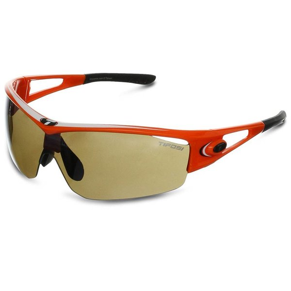 TIFOSI OPTICS Logic, Neon Orange Interchangeable Sunglasses Brown/AC Red/Clear Lenses