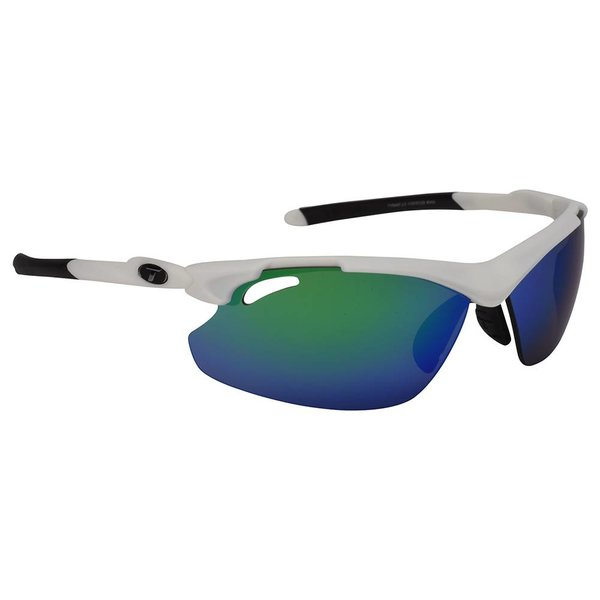 TIFOSI OPTICS Tyrant 2.0, Matte White Interchangeable Sunglasses Clarion Green/AC Red/Clear