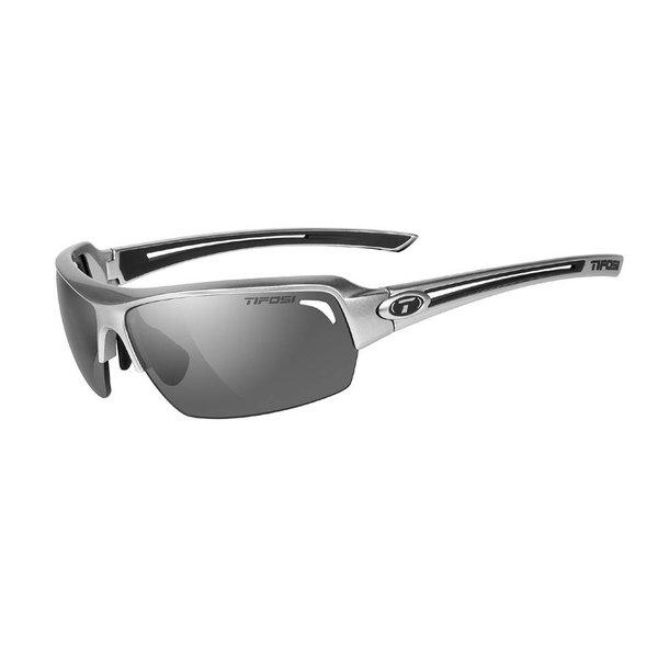 TIFOSI OPTICS Just, Gloss Gunmetal Single Lens Sunglasses Smoke Lens