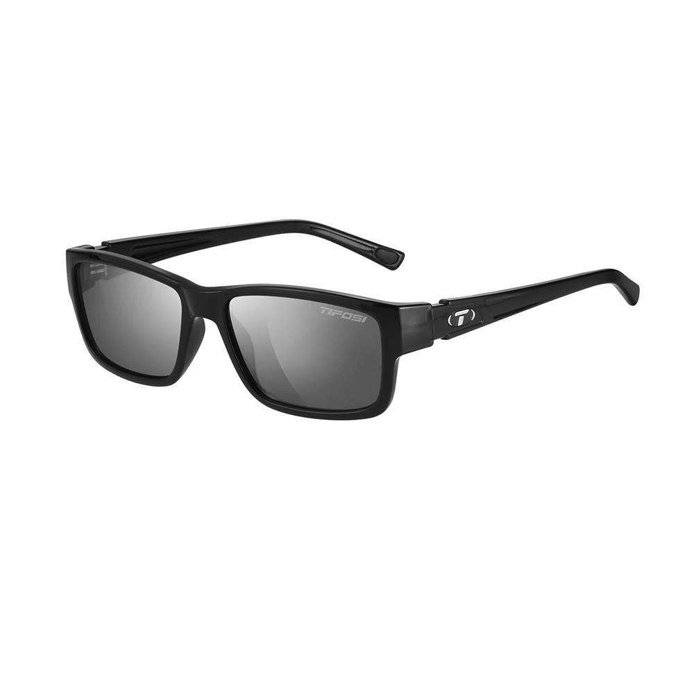 TIFOSI OPTICS Hagen, Gloss Black Single Lens Sunglasses Smoke Lenses