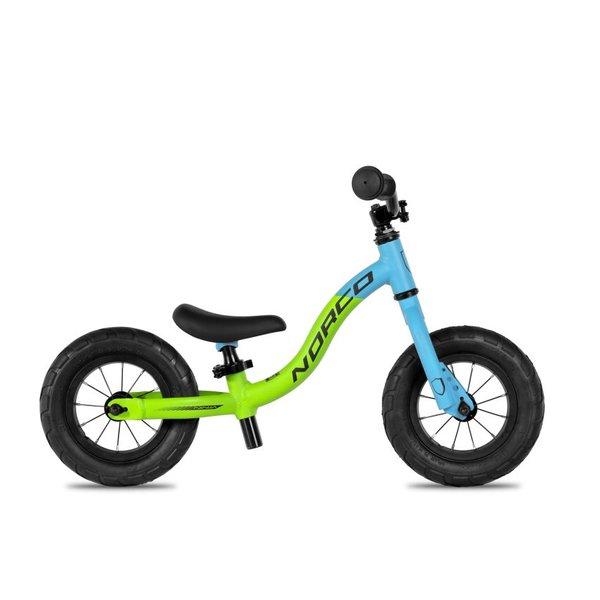"""NORCO Ninja Run Bike Boy's 10"""" Lime Grn/Cyan/Blk"""
