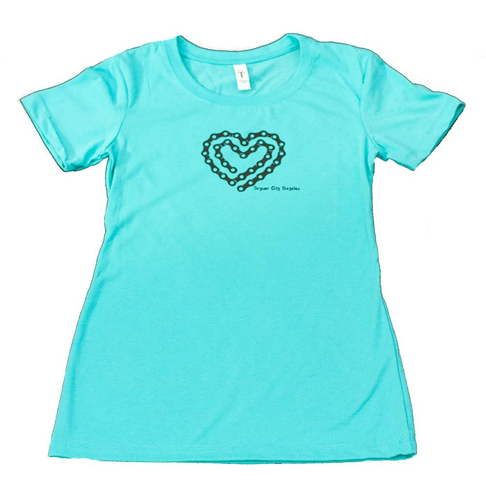 Bryson City Bicycles BCB Heart Tee Women, Tahiti Blue