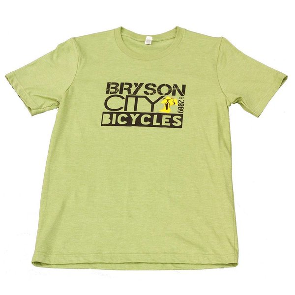 Bryson City Bicycles BCB Square Men's  tee, Green