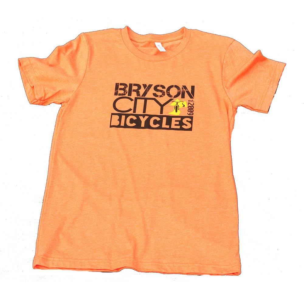 Bryson City Bicycles BCB Square Men's tee, Orange