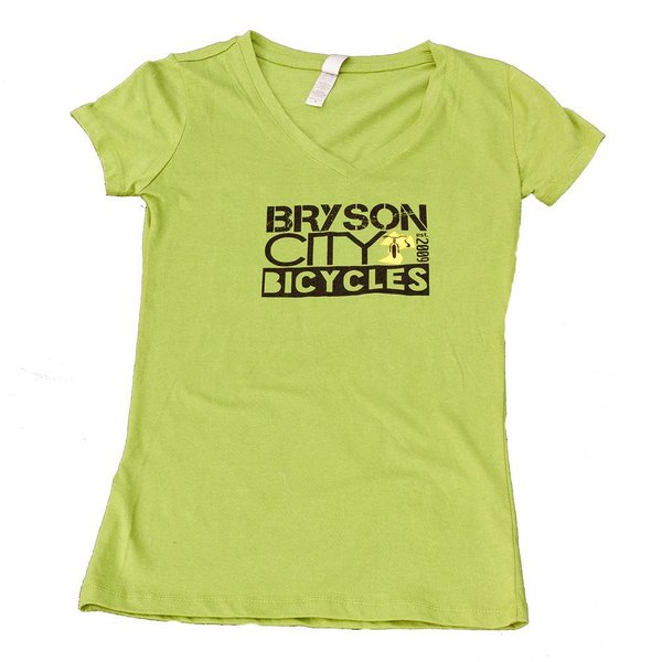 Bryson City Bicycles BCB Square Women's tee, Green