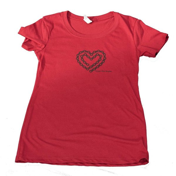 Bryson City Bicycles BCB Heart Tee Women, Scarlet