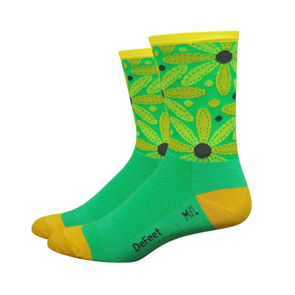 "DeFeet DeFeet, Aireator 5"" , Socks, Stitich Daisy, Green, ML"